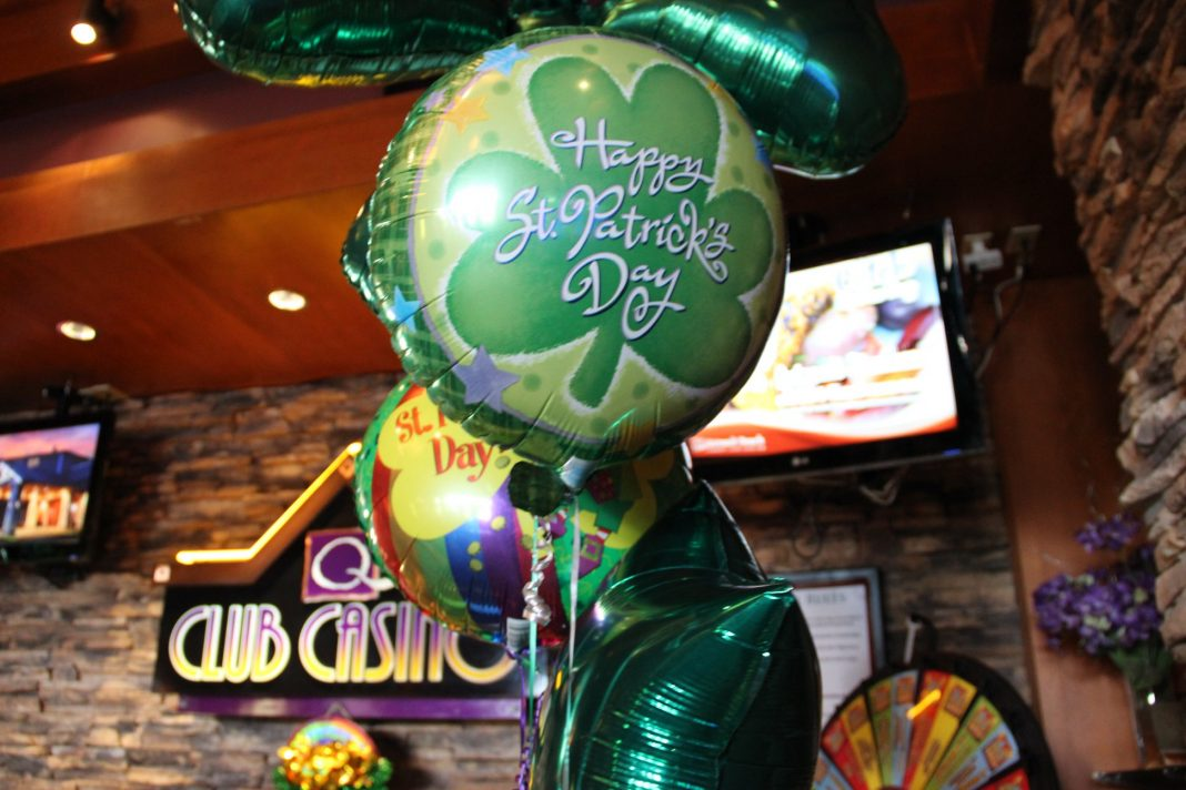 Quinault Beach Resort Casino st patricks day balloons