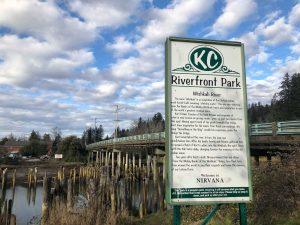 Sign at Kurt Cobain Riverfront park in Aberdeen