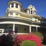 Aberdeen Mansion with flowers in bloom