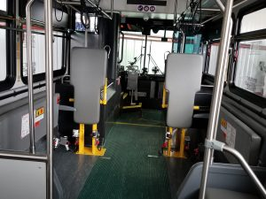 Inside view facing drive on Grays Harbor Transit