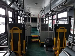 Inside view of new Grays Harbor Transit coaches