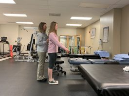 Rehab Visions therapist with patient
