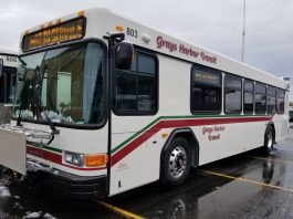 Side angle of new Grays Harbor Transit