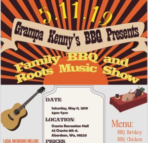 Family BBQ and Roots Music Show @ Ocasta Recreation Hall