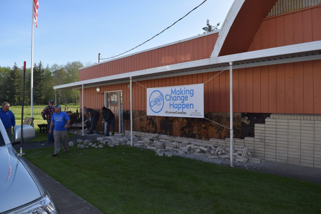 Comcast Cares Day exterior of McCleary VFW Post