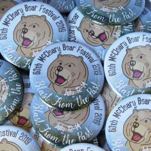 McCleary Bear Festival 2019 buttons