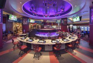 Quinault BEach Resort and Casino Bacon and Keggs Beach Bash bar in circle