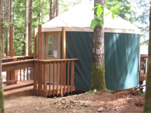 where to camp Montesano Yurt at Coho via USFS