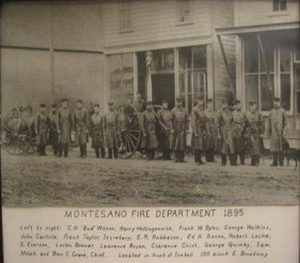 Montesano Fire Department in 1895