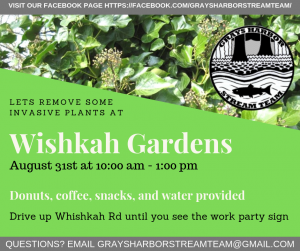 Wishkah Gardens Invasive Removal Work Party @ Long Swamp Boat Launch