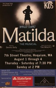 Matilda the Musical presented by the 7th Street Kids @ 7th Street Theatre