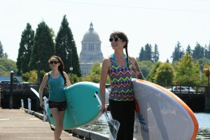 Paddleboarding Olympia Washington Downtown Olympia