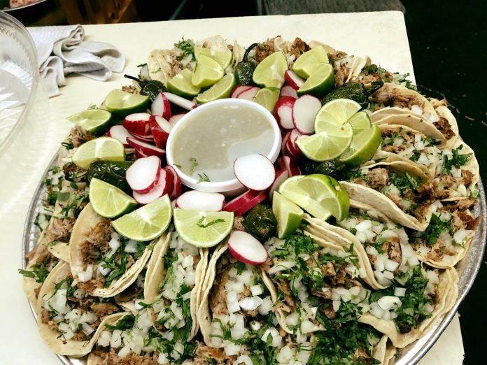 Latino Cusine in Aberdeen taco platter at La Salvadorena Restaurant