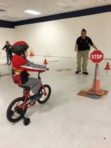 Grays Harbor Community Hospital Rock Your Health Fair bike rodeo