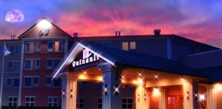 Quinault Beach Resort and Casino at Night