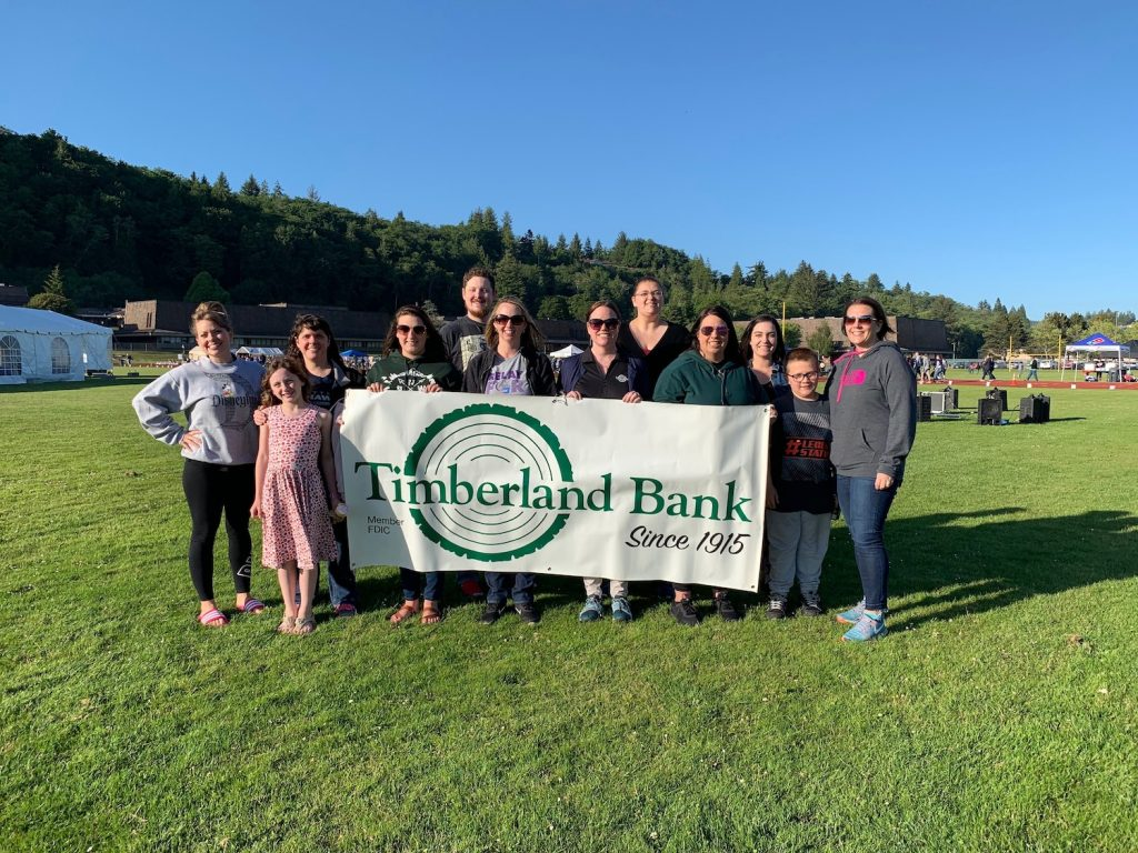 Timberland Bank at the Relay for Life 2019
