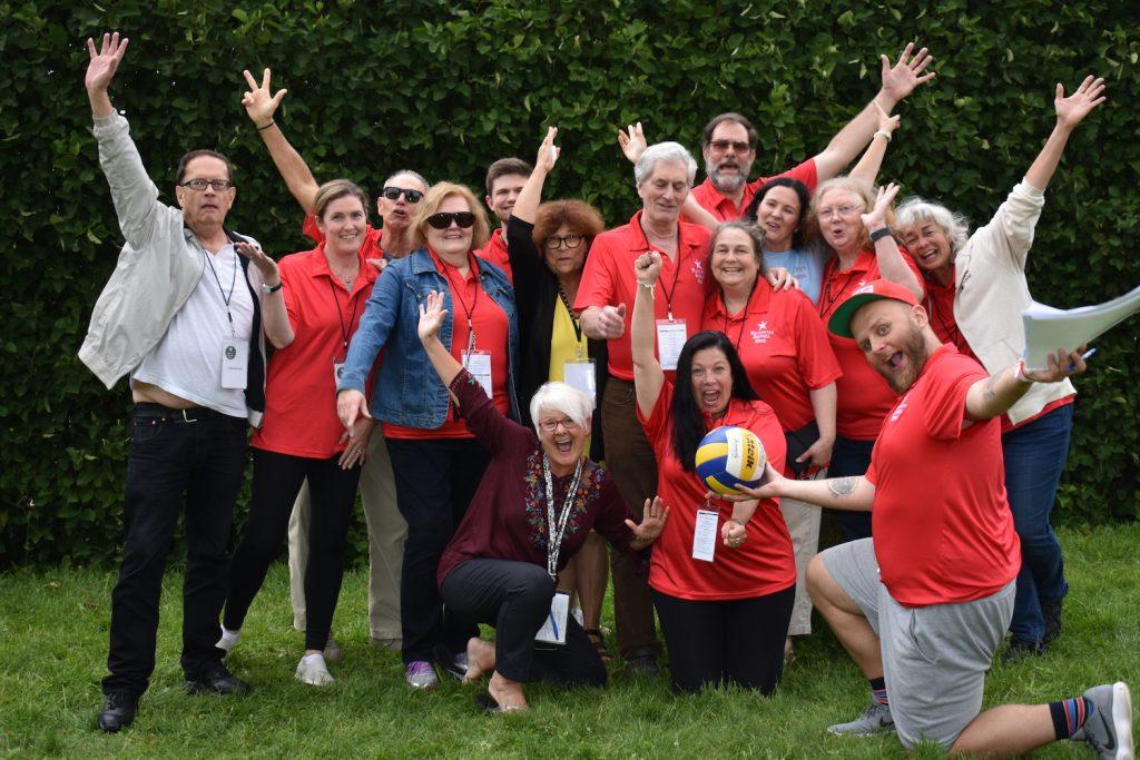 Business Week volunteers posing