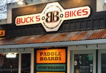 Seabook Bike Rentals Bucks Bikes Storefront Sign