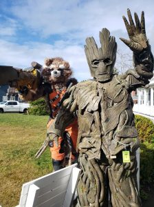 Chocolate on the Beach Festival 2020 PDX-Superheroes-Groot-and-Rocket