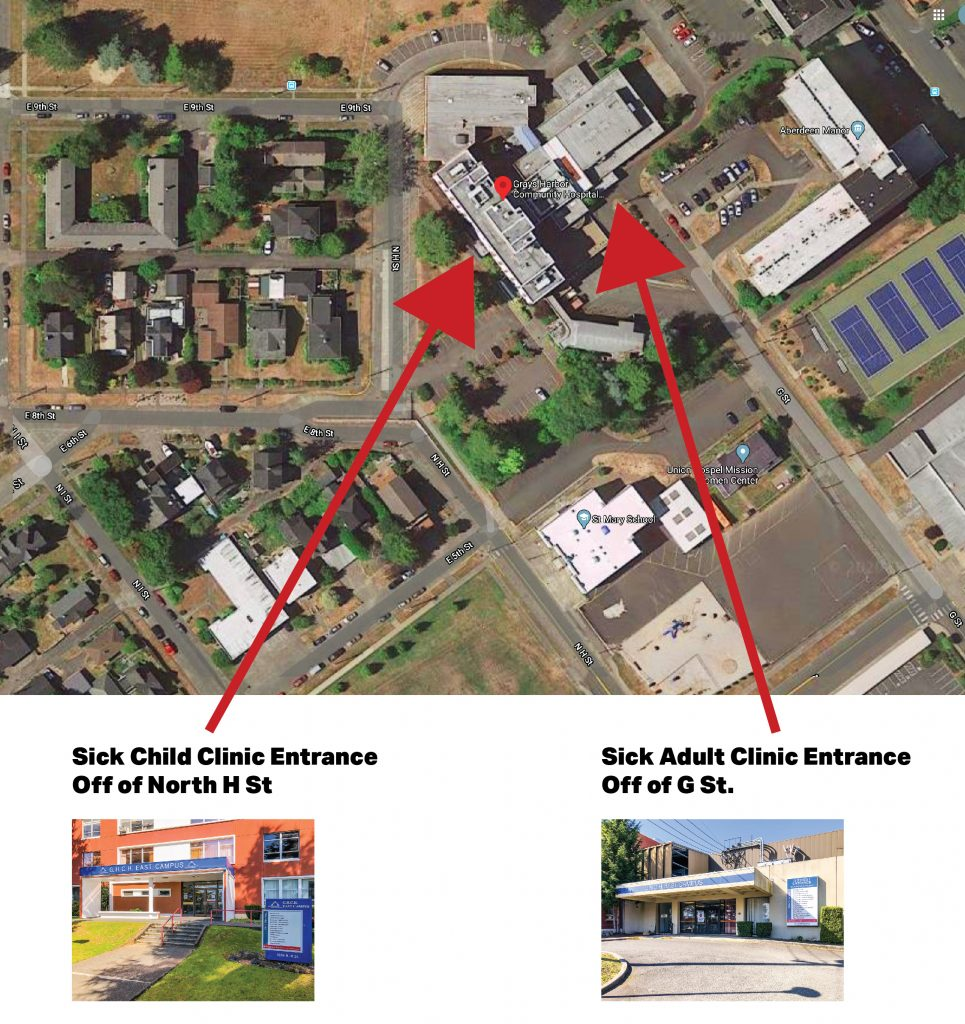 Grays Harbor Hospital East Campus Map Only-01