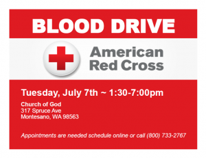 American Red Cross Blood Drive @ Church of God