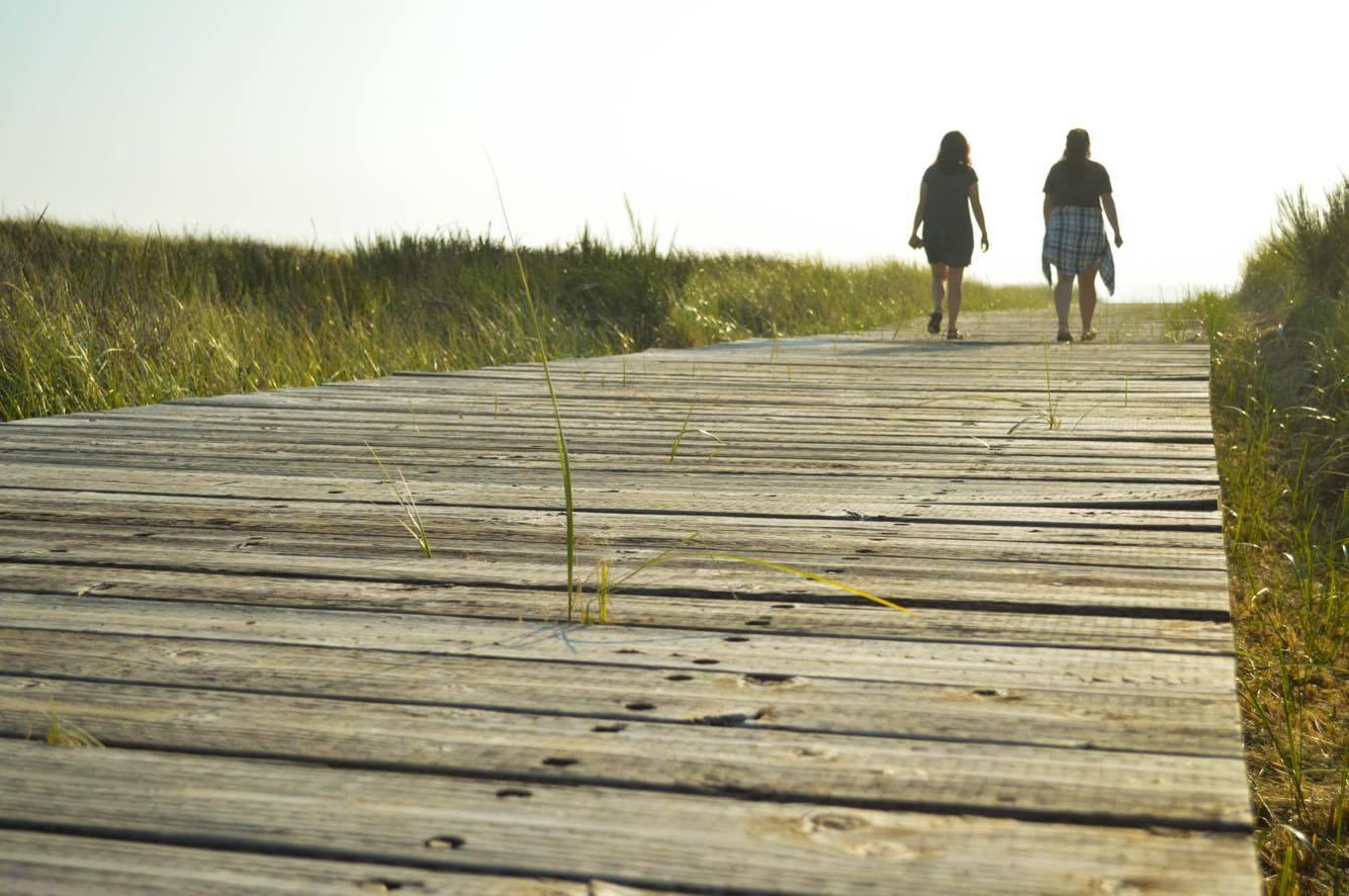 Where to walk on Beach Grays Harbor-boardwalk