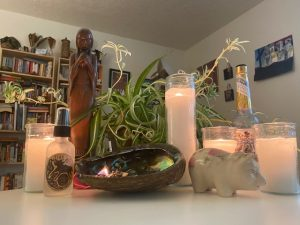 Evergreen-State-College-Chaplain-Melissa-Bennett-Altar