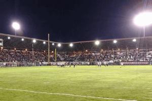 Olympic Stadium Hoquiam football game and crowd