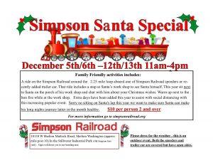 Simpson Santa Special @ Simpson railroad