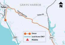 Grays harbor state route 109 mud slide