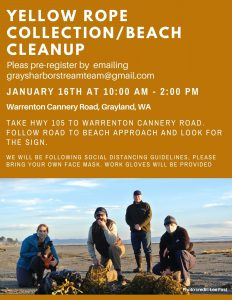 Yellow Rope Collection/Beach Cleanup @ Westport/Grayland