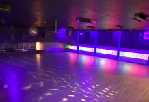 Harborena-roller-rink-grays harbor-lights-on-floor