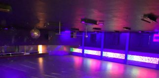 Harborena-roller-rink-grays harbor-lights-on-floor