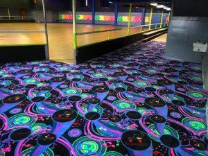 Harborena-roller-rink-grays harbor-new-carpet