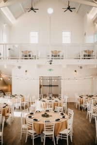 Seabrook's Town Hall and Event Center, located on Pacific Beach, is a Nantucket-style venue that's perfect for intimate weddings.  Photo credit: Tashana Klonius Photography