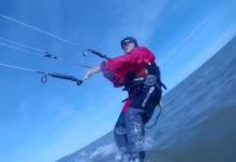 kitesurfing ocean shores