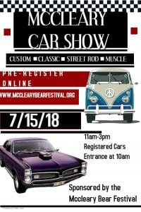 McCleary Bear Festival Car Show @ McCleary | McCleary | Washington | United States