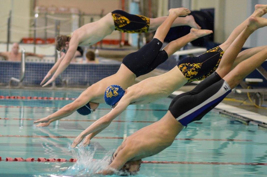 Aberdeen High School swim team River Ridge meet