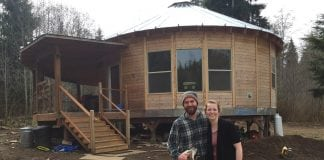 Jared and Audrey Neibaur Homesteading Grays Harbor County Yurt