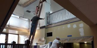 Hoquiam Library Getting Painted