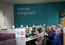 Timberland Library Internet corner bldg 1