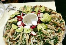 Latino Cusine in Aberdeen taco platter at La Salvadorena Restaurant