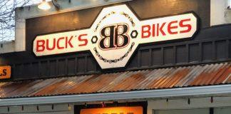 Seabook Bike Rentals Bucks Bikes Storefront Sign
