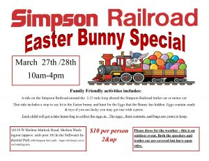 Easter Bunny Special @ Simpson Railroad