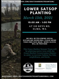 Lower Satsop Planting @ Grays Harbor Conservation District