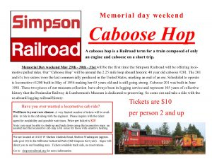 "Simpson Railroad ""Caboose Hop"" @ Simpson Railroad"