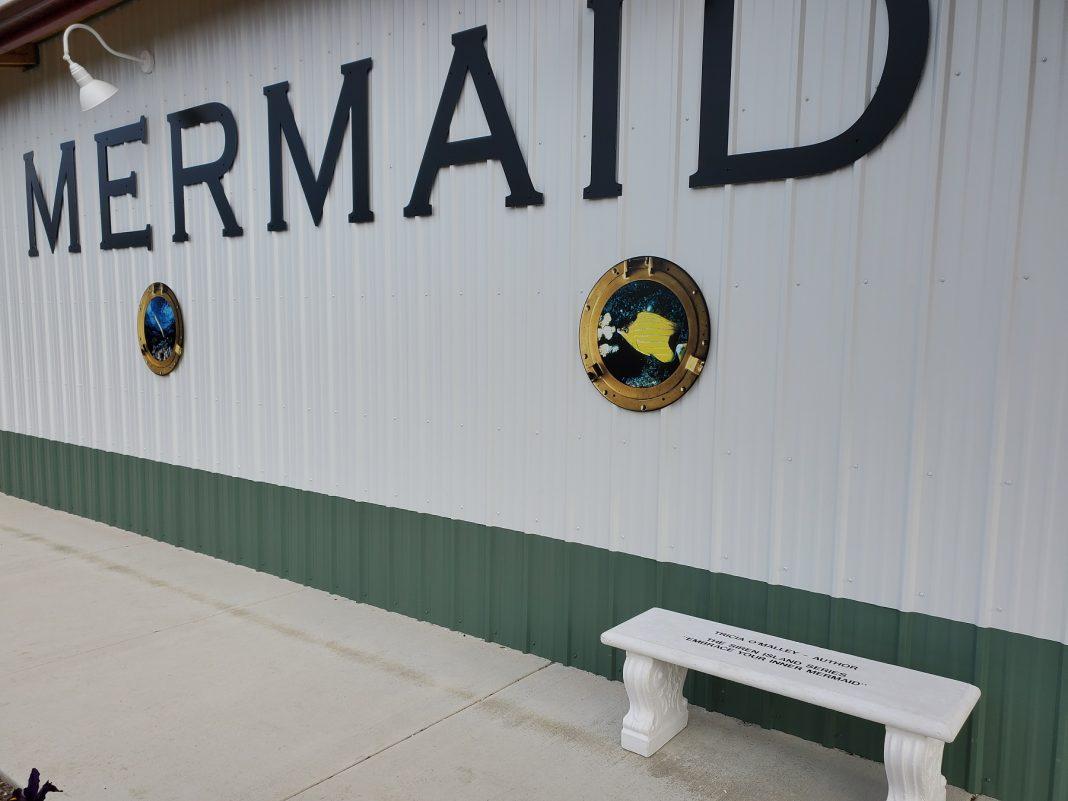 westport winery mermaid bench