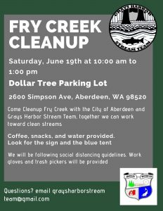 Fry Creek Cleanup @ Dollar Tree Parking Lot