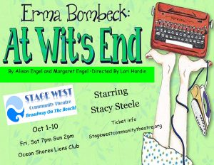 Stage West Community Theatre presents: Erma Bombeck: At Wit's End @ Ocean Shore Lions Club