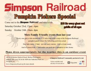 Pumpkin Pickers Special @ Simpson Railroad